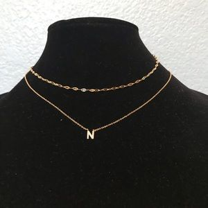 """Beautiful """" N """" Necklace"""